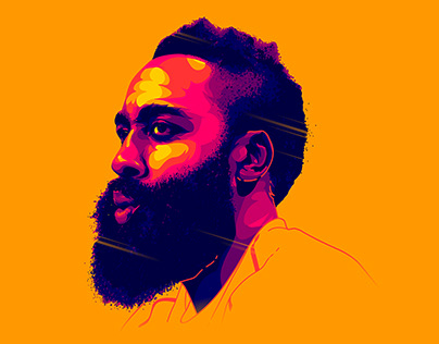James Harden - Illustration + Process