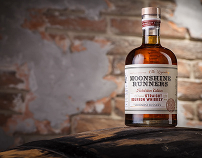 Whiskey Label Design – Moonshine Runners
