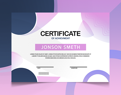 Professional Certificate Design In Photoshop