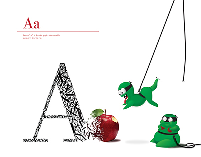 Trouble Monster's Alphabet: Letter A