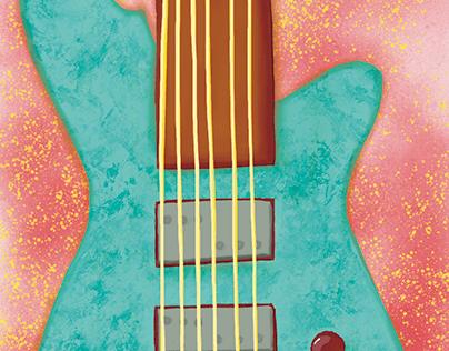 Guitar Digital Painting
