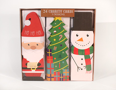 Boots die-cut Christmas cards