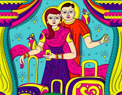 50+ Contemporary Indian Folk Art Illustrations