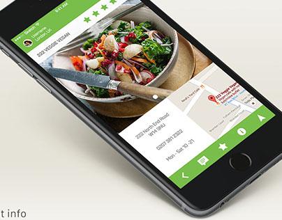 Mobile app for veggie restaurants