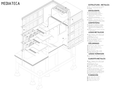 CONSTRUCTIONS DETAILS OF A LIBRARY PROYECT