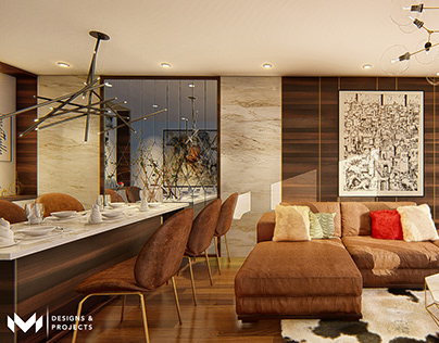 Interior by M - Designs & Projects - Living/Dine Room