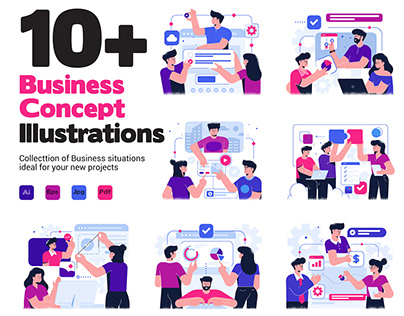 Business Concept Illustrations