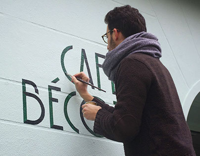 Café Bécot sign painting