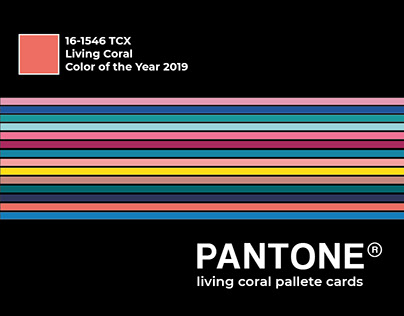 PANTONE® Living Coral Pallete Cards