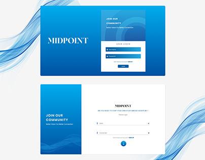 IT Company Web LOGIN UI   MIDPOINT