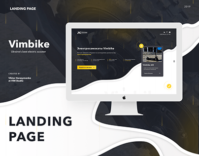 Landing • UI • Vimbike • Web • Design • Layout
