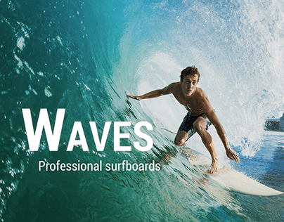 Waves, professional surfboards | Graphic Design Concept
