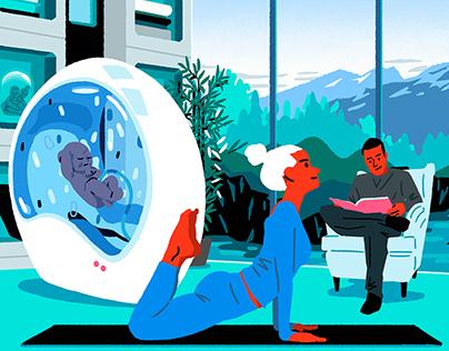 Usbek & Rica Editorial Illustrations
