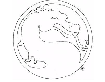 mortal kombat logo drawing