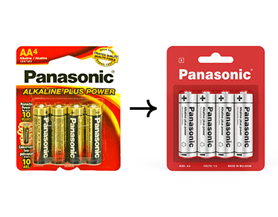 Redesign: battery packaging. Panasonic