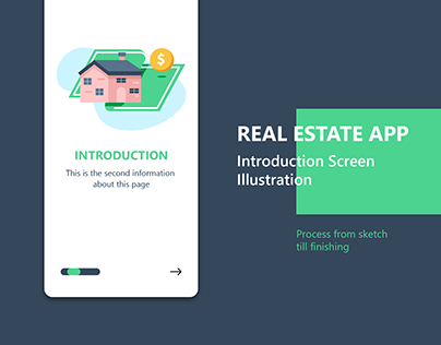 Real Estate App Introduction Screen Illustration