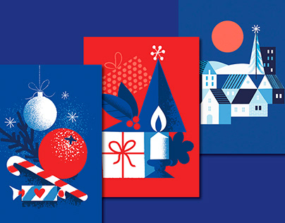 Red and Blue Christmas