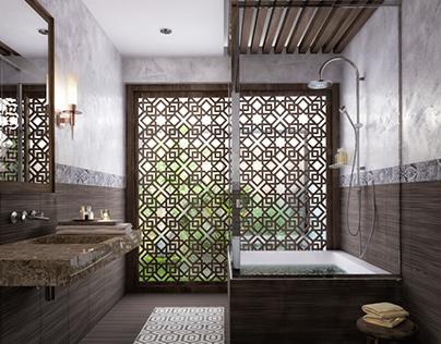 Modern islamic bathroom