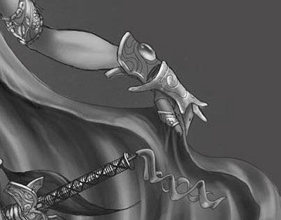 Princess Jade - B&W