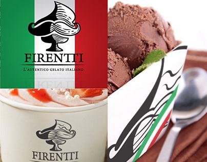 Firentti Gelato - Logo and Branding Design
