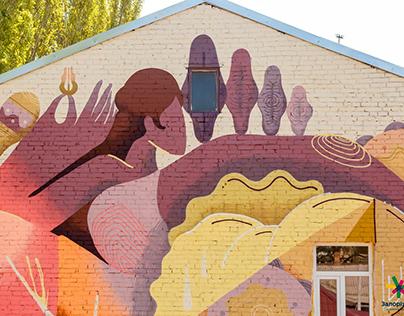 Mural in Zaporizhia