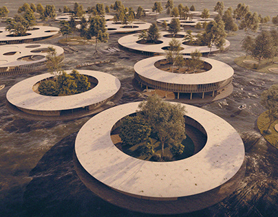 Floating Community by Masoud Abedimoghadam