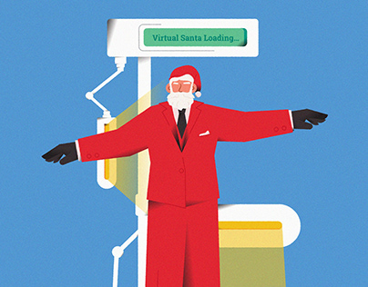 "Illustration Book ""HOW DMI HELPED SANTA SAVE CHRISTMAS"""