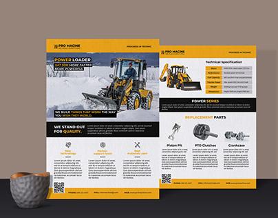 Product Sheet Or Technical Data Sheet Flyer Design