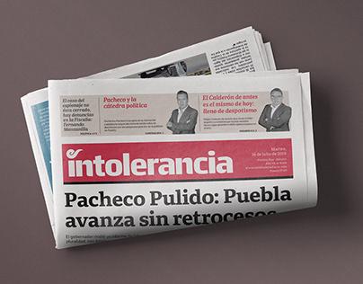 INTOLERANCIA Newspaper Design