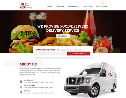 UX/UI DESIGN - FOOD DELIVERY WEBSITE