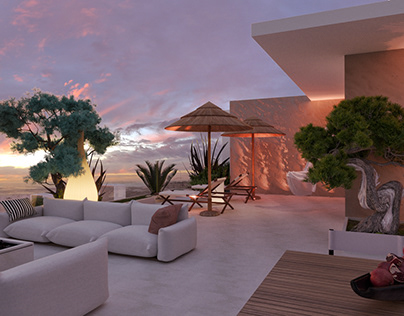 PENTHOUSE TERRACE DESIGN_ SECOND FLOOR