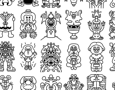 100 Symmetrical Doodles
