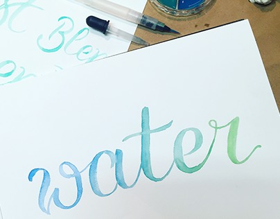 Water Colour Lettering