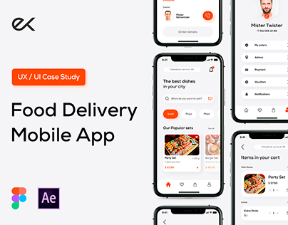 Food Delivery Mob App for Katsura • UI/UX Design