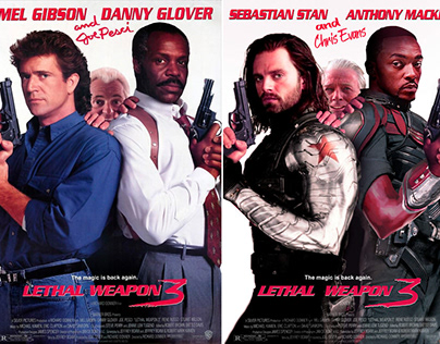 Marvel Characters On Famous Movie Posters