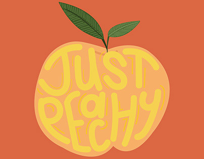 Just Peachy   Illustrated Type