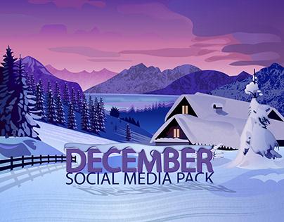 December Social Media Pack By Designrar