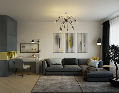 Design of the apartment at Teremki.
