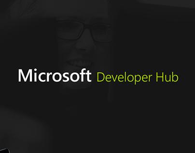 Microsoft Developer Hub - Web Design