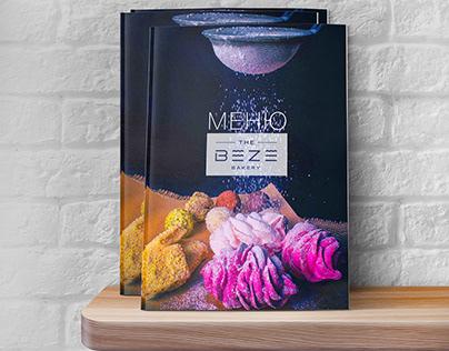 "Menu design for the restaurant ""Beze"""