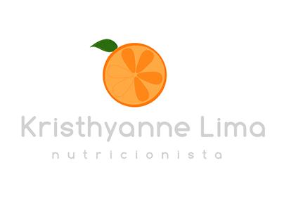 Identidade visual para nutricionista Krsithyanne Lima