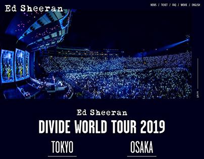 Ed Sheeran DIVDE WORLD TOUR 2019 Japan Website