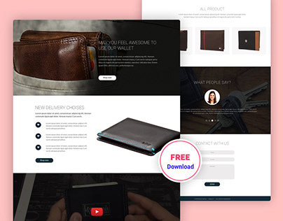 Wallet Shop Free PSD Template