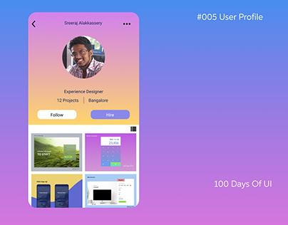 05 of 100DaysOfUI. Profile Page