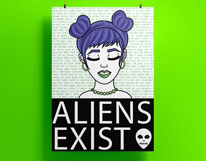 Aliens Exist Poster