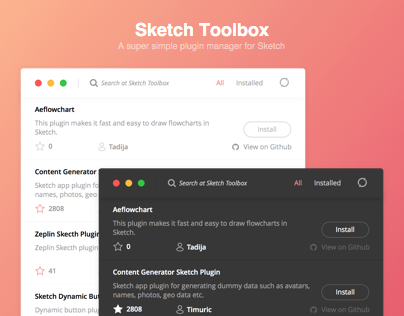 Sketch Toolbox Redesign