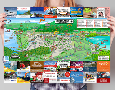 INTERLAKEN TOURIST MAP 3D
