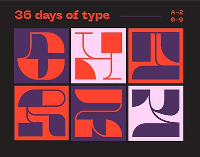 36 days of type_2021