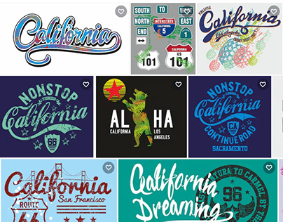 California Print and embroidery vector art