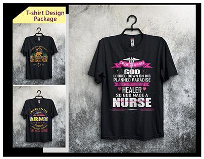 Best Hiking Nursing & Army T-shirt Design
